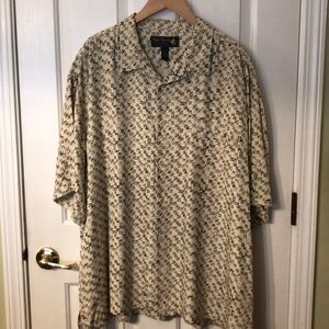 Nat Nast Geometric Print Short Sleeve Shirt 2XL